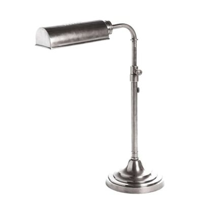 Brooklyn Adjustable Metal Table Lamp - Antique Silver