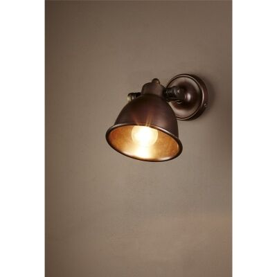 Phoenix Metal Wall Light - Dark Brass