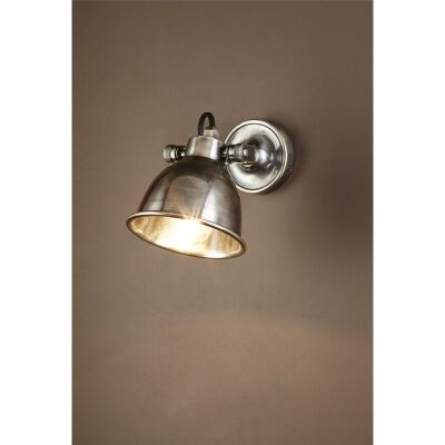 Phoenix Metal Wall Light - Antique Silver