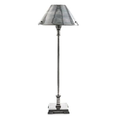 Bruxelles Metal Table Lamp - Antique Silver