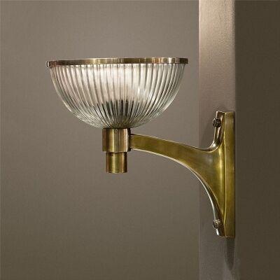 Astor Glass Wall Sconce, Brass