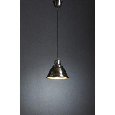 Robertson Metal Pendant Light - Antique Silver