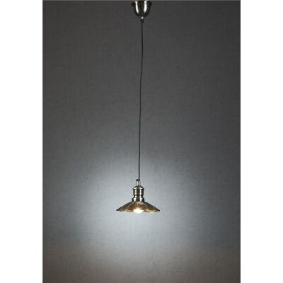 Baltic Small Metal Pendant Light - Antique Silver