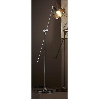 Winslow Adjustable Metal Floor Lamp - Antique Silver