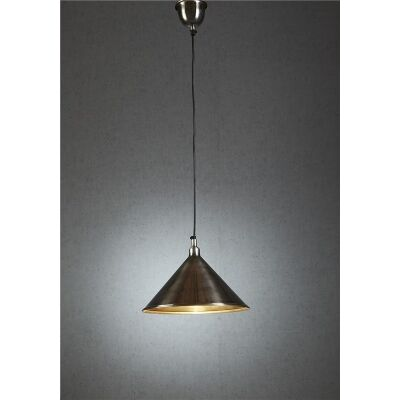 Riverway Metal Pendant Light - Antique Silver