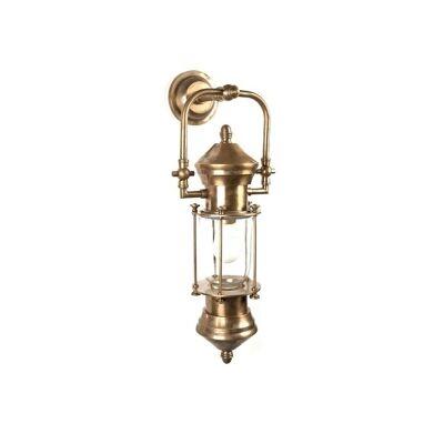 Lisbon Ship Lantern Metal Wall Light - Antique Brass