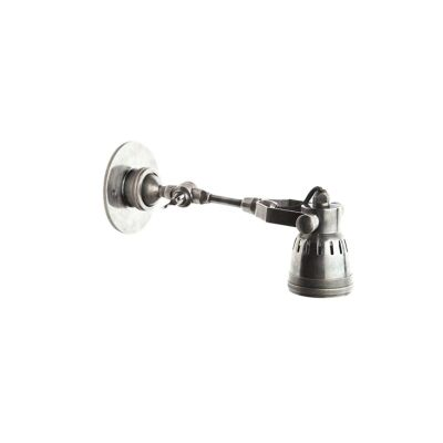 Seattle Metal Long Arm Wall Light, Antique Silver