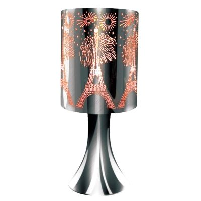 Houston Eiffel Tower Etched Metal Table Touch Lamp