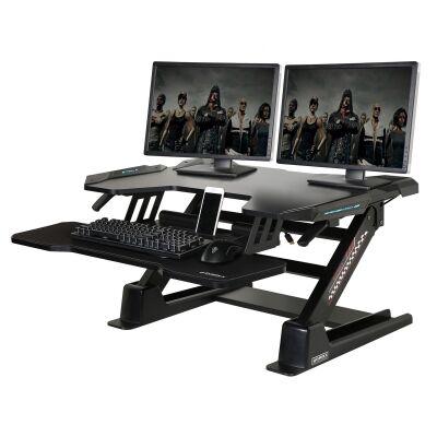 Eureka Ergonomic Adjustable Stand Up Desk Converter, Quick Sit to Stand Tabletop Riser, Black