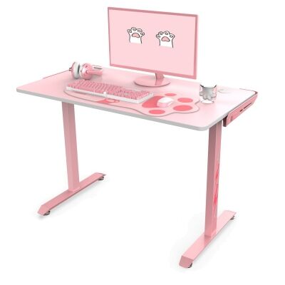 Eureka Ergonomic I1-S Gaming Desk, 115cm, Pink
