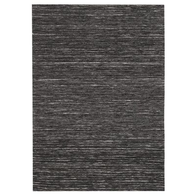 Mayfair Stunning Flat Woven Rug, 190x280cm, Charcoal