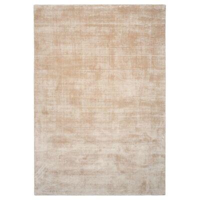 Essence Handmade Wool & Viscose Rug, 280x190cm, Linen