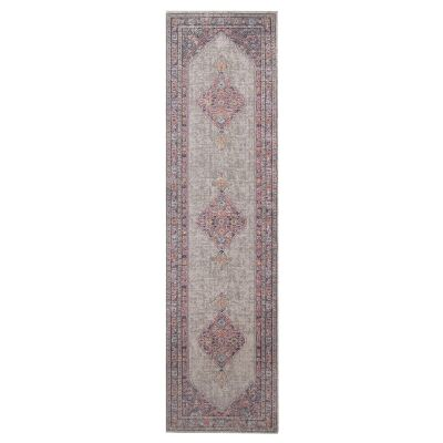 Eternal Whisper Diamond Turkish Made Oriental Runner Rug, 80x400cm, Grey