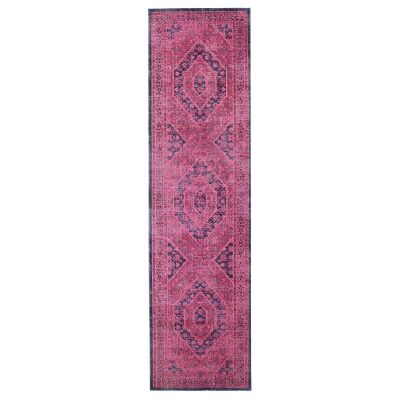 Eternal Whisper Vision Turkish Made Oriental Runner Rug, 80x300cm, Magenta
