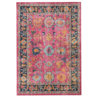 Eternal Whisper Corners Turkish Made Oriental Rug, 200x290cm, Pink