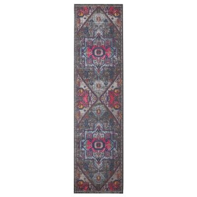 Eternal Whisper Quad Turkish Made Oriental Runner Rug, 80x300cm, Grey