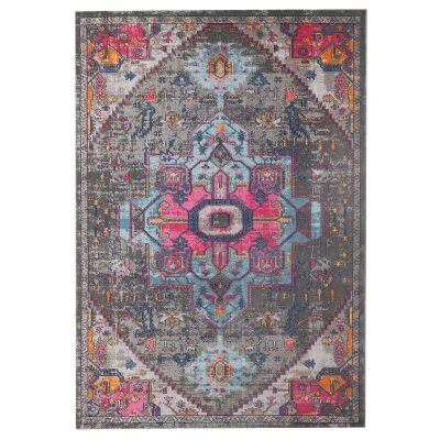 Eternal Whisper Quad Turkish Made Oriental Rug, 160x230cm, Grey