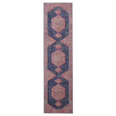 Eternal Whisper Blink Turkish Made Oriental Runner Rug, 80x300cm, Navy