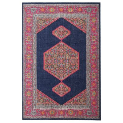 Eternal Whisper Blink Turkish Made Oriental Rug, 160x230cm, Navy