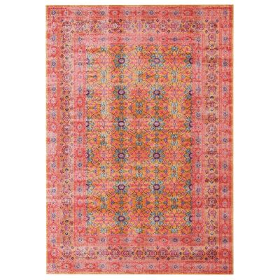 Eternal Whisper Wreath Turkish Made Oriental Rug, 160x230cm, Rust