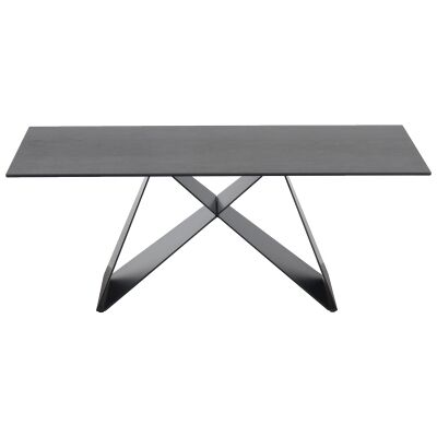 Mimico Ceramic Topped Metal Coffee Table, 116cm