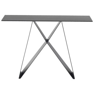 Mimico Ceramic Topped Metal Console Table, 116cm