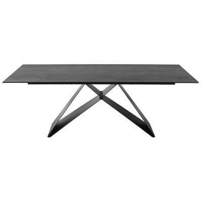 Mimico Ceramic Topped Metal Dining Table, 210cm