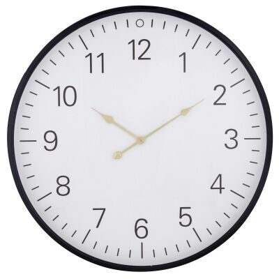 Harvey Iron Frame Round Wall Clock, 80cm
