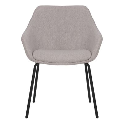 Etta Commercial Grade Stain Resistant Waterproof Fabric Dining Armchair, Light Grey
