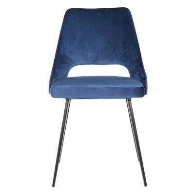 Eva Commercial Grade Velvet Fabric Dining Chair, Royal Blue