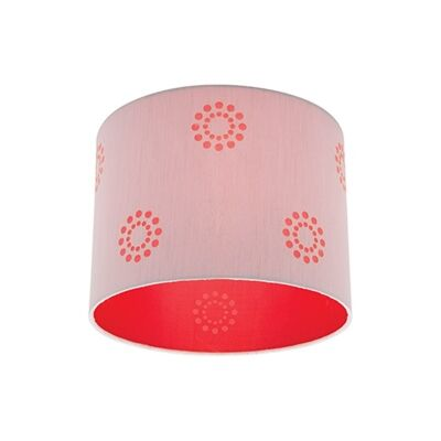 Fabian Batten Fix Ceiling Light - Silver/Red