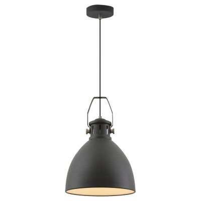 Fabrica Metal Industrial Pendant Light, Small, Black