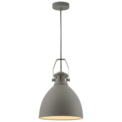 Fabrica Metal Industrial Pendant Light, Small, Grey