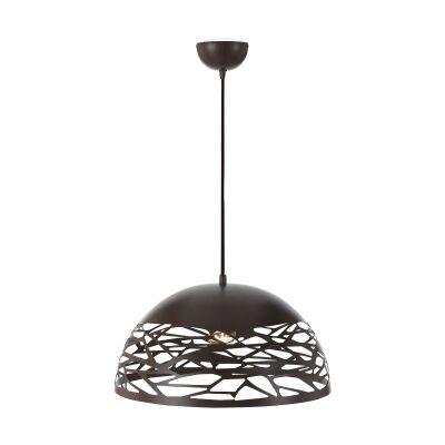 Farina Metal Dome Pendant Light, Large, Bronze