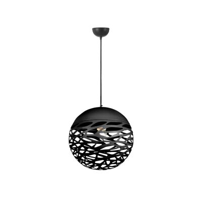 Farina Metal Ball Pendant Light, Small, Black