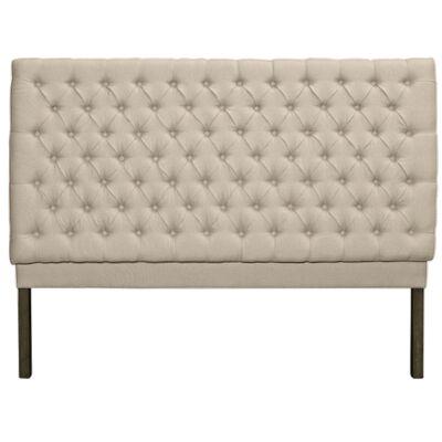 Buckley Linen Fabric Bed Headboard, Queen
