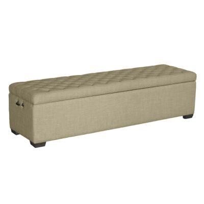 Felix Linen Fabric Bed End Storage Ottoman, 160cm