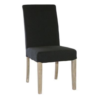 Augusta Fabric & Oak Timber Undressed Dining Chair