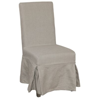 Augusta Linen Fabric Dining Chair Slipcover (Cover Only)