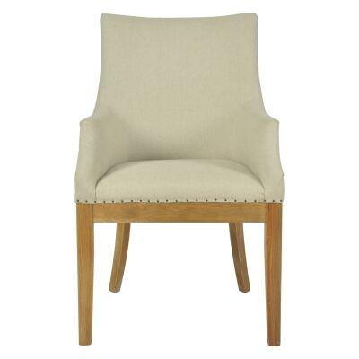 Camber Linen Fabric Armchair