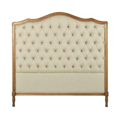Pallas Tufted Linen Fabric Bed Headboard, Queen