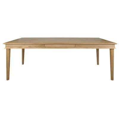 Rilynn Oak Timber Dining Table, 220cm