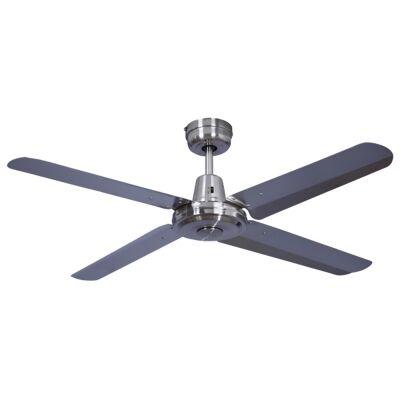 "Swift Metal Ceiling Fan, 130cm/52"", Brushed Chrome"
