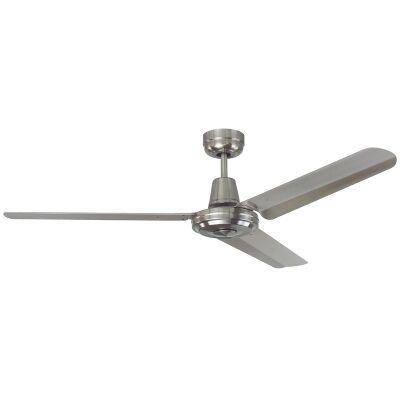 """Swift Stainless Steel Ceiling Fan, 130cm/52"""""""