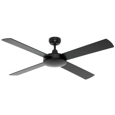 "Caprice Timber Ceiling Fan, 130cm/52"", Black"