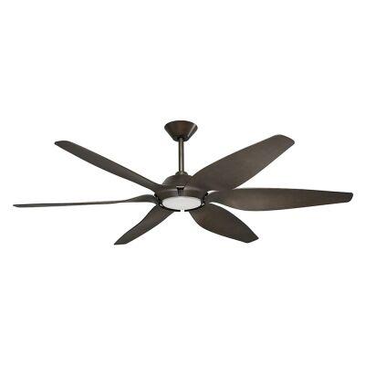 "Mornington DC Ceiling Fan with LED Light, 165cm/65"", Grey"