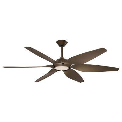 "Mornington DC Ceiling Fan with LED Light, 165cm/65"", Brown"