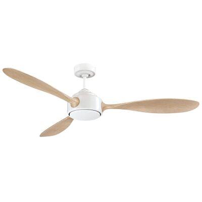 "Duxton AC Ceiling Fan, 130cm/52"", White"