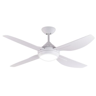"""Major Indoor / Outdoor Ceiling Fan with LED Light, 122cm/48"""", White"""