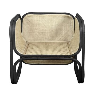 Mon Bamboo & Cane Occasional Chair, Black/Natural